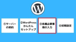 WordPress必要事項の入力